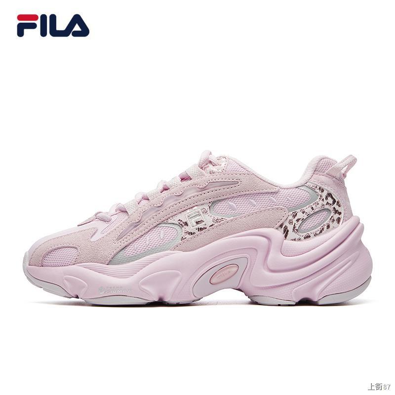 ✱⊕FILA รองเท้าเก่ารองเท้าเสือดาวรองเท้าผู้หญิงรองเท้าลำลองแฟชั่นฤดูใบไม้ผลิ 2021 รองเท้าวิ่งผู้ชายเพิ่ม ins สำหรับคู่ร