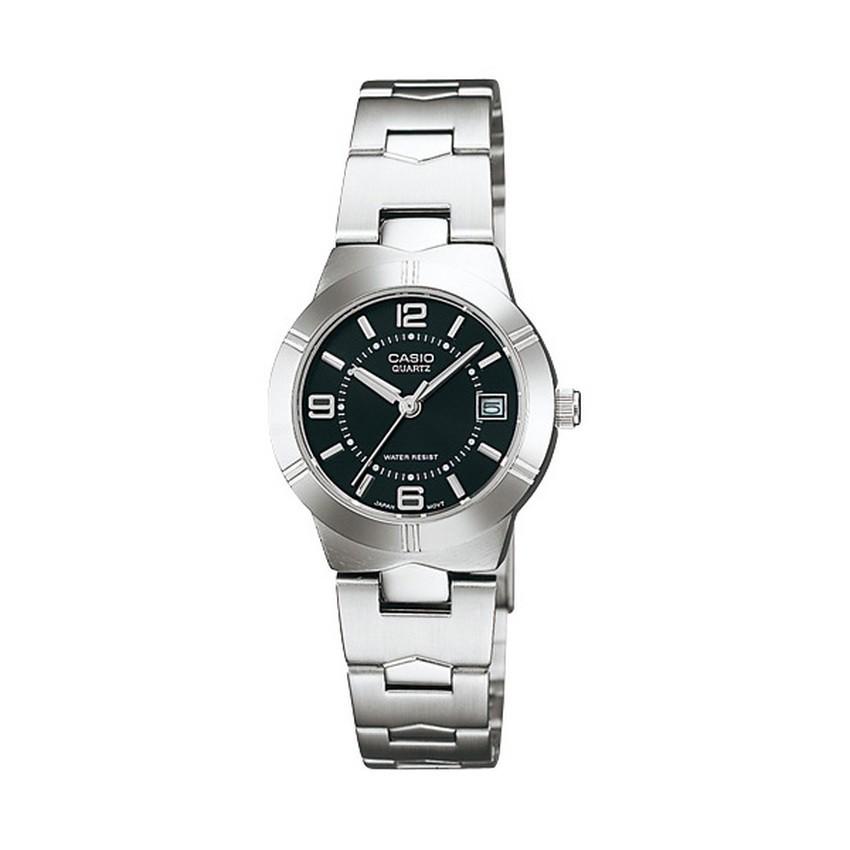 Casio Standard นาฬิกาข้อมือผู้หญิง สายสแตนเลส รุ่น LTP-1241D-1ADF - Silver/Black