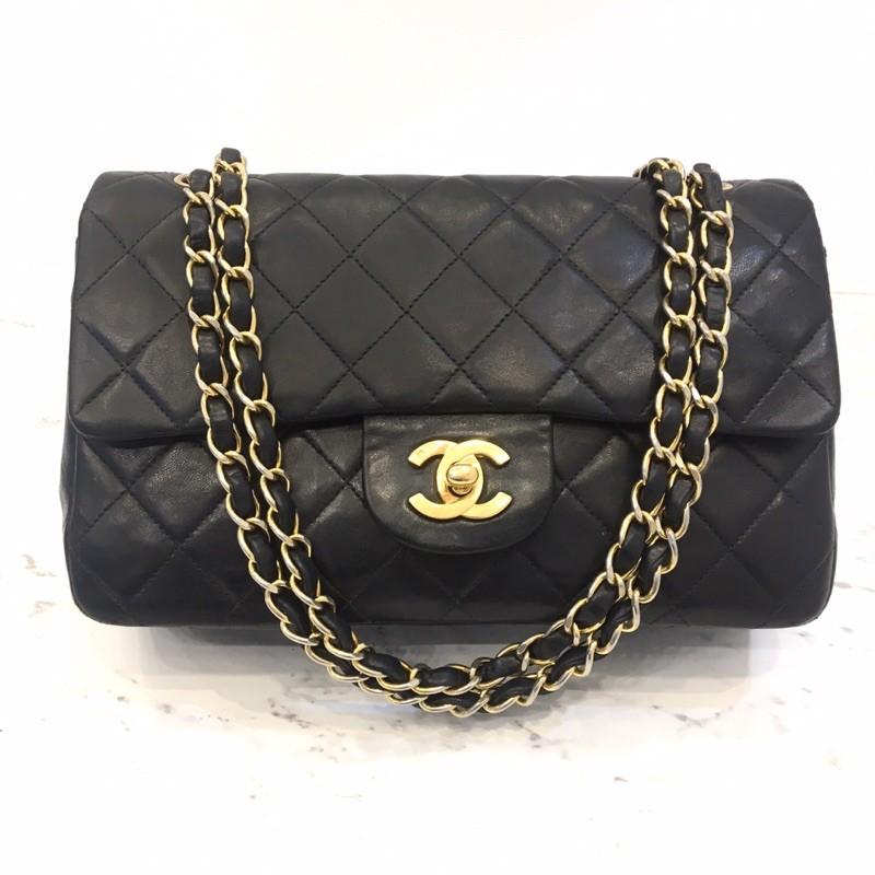 """Chanel Classic 9"""" Vintage ดำ/ทอง สวยคลาสสิคตลอดกาล"""
