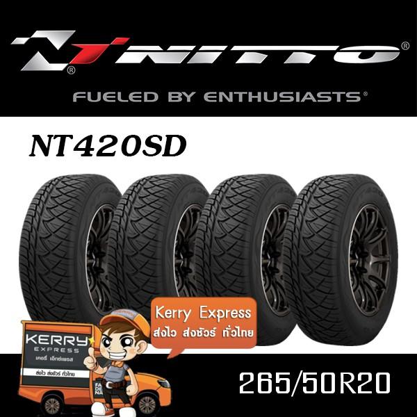 265/50R20 NITTO NT420SD ชุดยาง (แถมฟรีจุ๊บยางแท้)