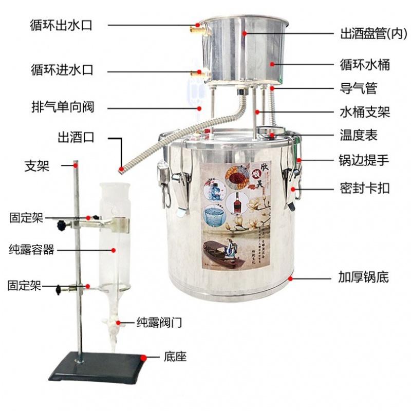 ♥≡มัลติฟังก์ชั่กุหลาบน้ำมันเครื่องสกัดน้ำมันทำให้เครื่องกลั่นพาณิชย์น้ำมันระบายDIY纯露机