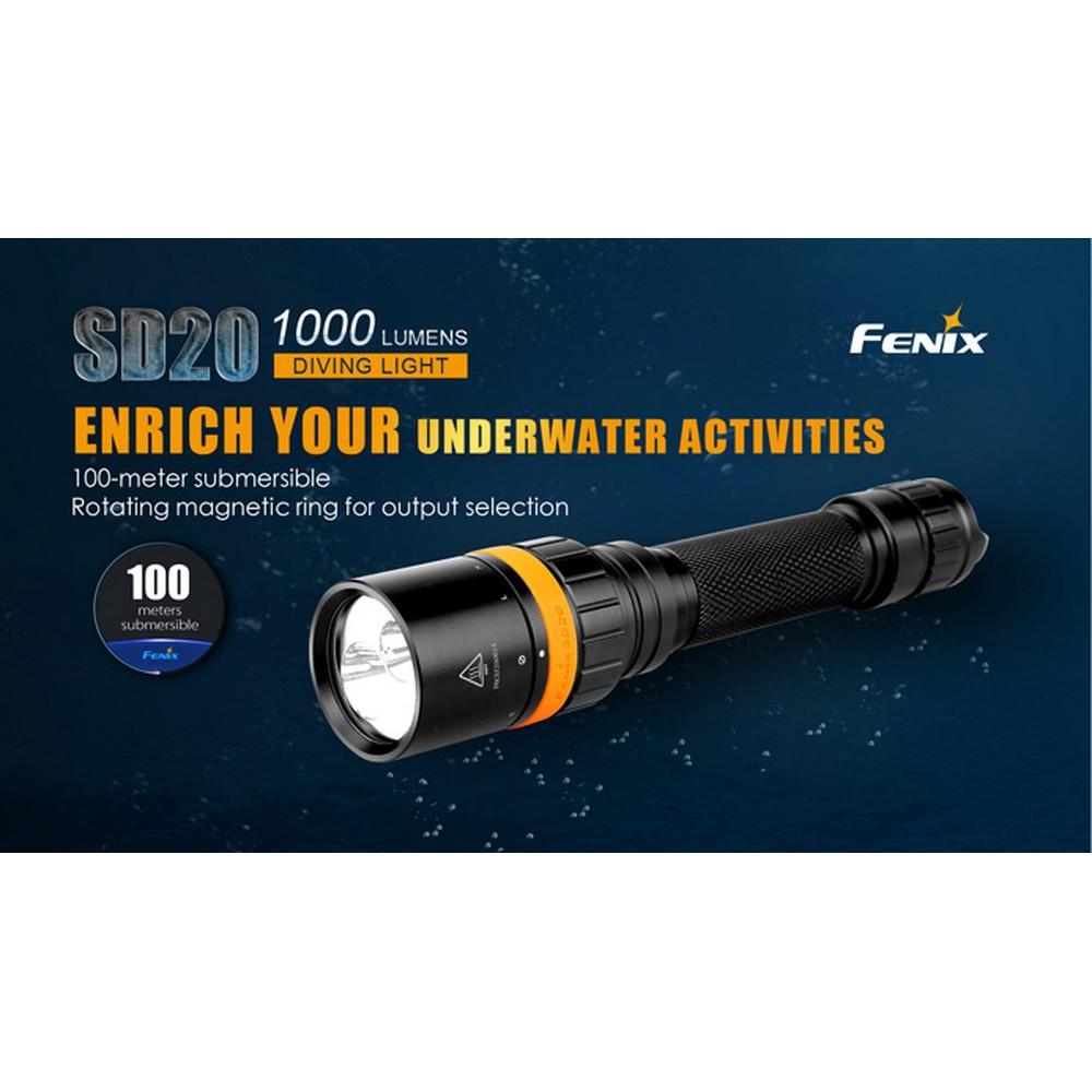 ไฟฉายดำน้ำ FENIX SD20 สินค้าตัวแทนในไทยสามปี