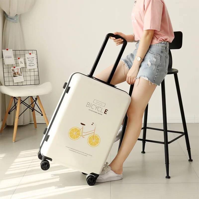 กระเป๋าเดินทางล้อลากลายการ์ตูนขนาด 20 24 นิ้ว