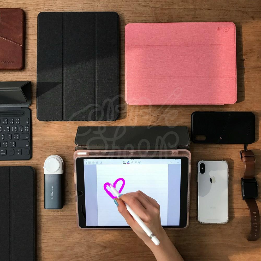 ✅🌼🔥✢✾เคส iPad 9.7 2018 (Gen6) รุ่น Trifold มีที่เก็บปากกาจาก AppleSheep  เคสไอแพดโปร เคสไอแพดเก็บปากกา
