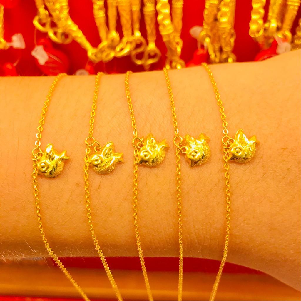 ข้อมือทองคำแท้ นำ้หนัก 1 กรัม  ลายนก ทองคำแท้ 96.5% มีใบรับประกันสินค้า น้ำหนักเต็ม ราคาโดนใจ
