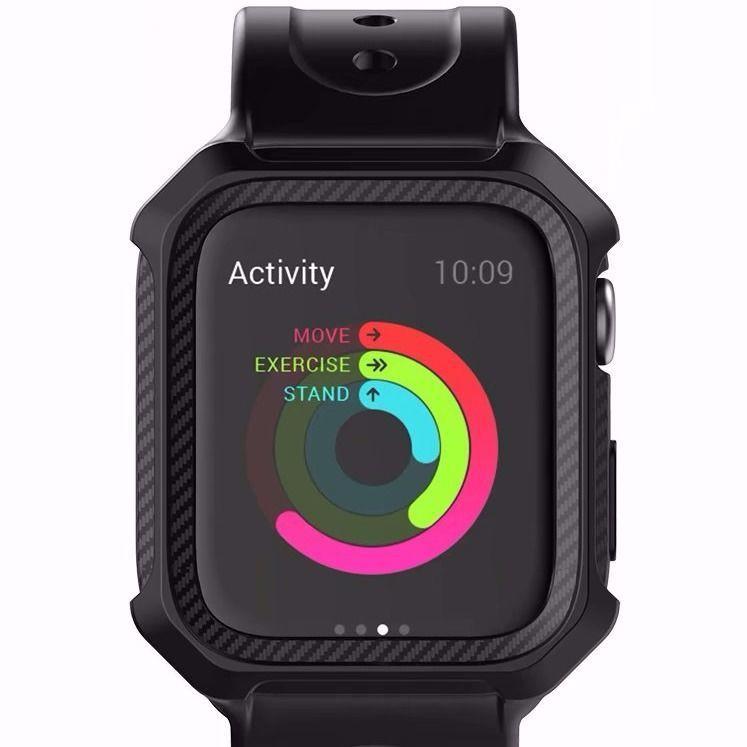 สาย applewatch Suitable for Apple Watch Silicone Strap Case Apple watch123456 Generation se