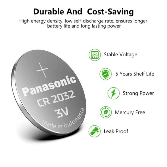 ถ่าน/แบตเตอรี่ พานาโซนิค Panasonic CR2032 1 ก้อน