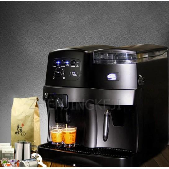 110V เครื่องทำกาแฟอัตโนมัติภาษาอิตาเลี่ยน American Commercial  กาแฟถั่วเครื่อง เครื่องชงกาแฟอัตโนมัติ ZB-Q001