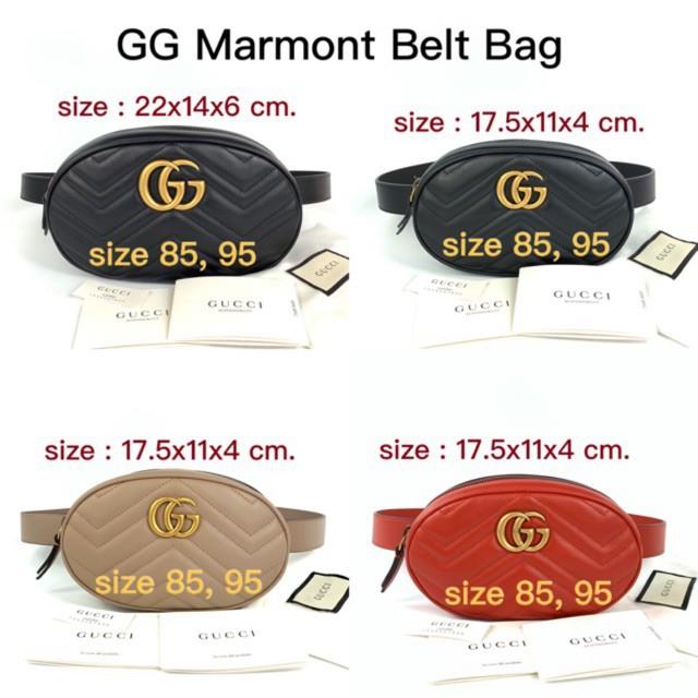 Gucci marmont belt bag size 85 พร้อมส่ง ของแท้ 100%【การจัดซื้อ】