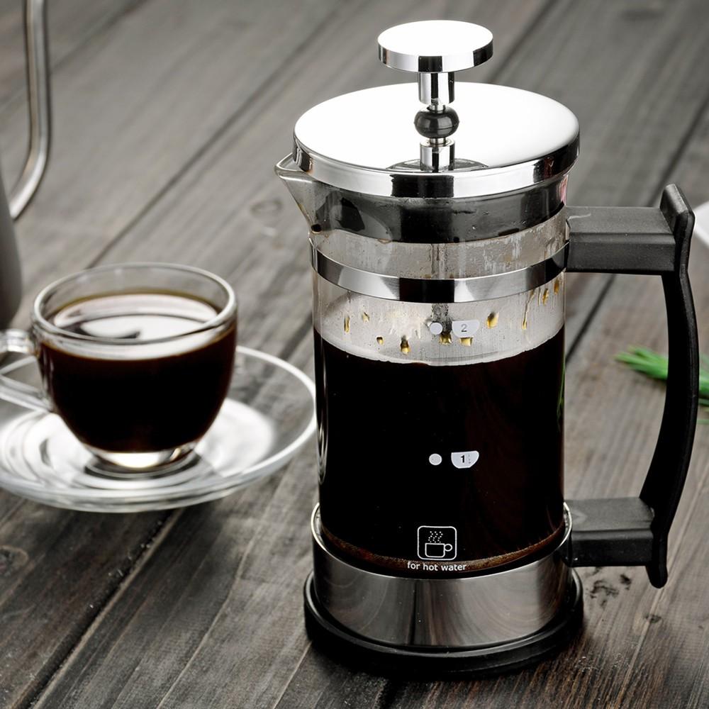 び❤หม้อกาแฟไฟฟ้าหม้อกาแฟ moka  หม้อกดฝรั่งเศส, เครื่องชงกาแฟ, หม้อกรองแบบฝรั่งเศสในครัวเรือนทำด้วยมือ, เครื่องชงชาทนความร