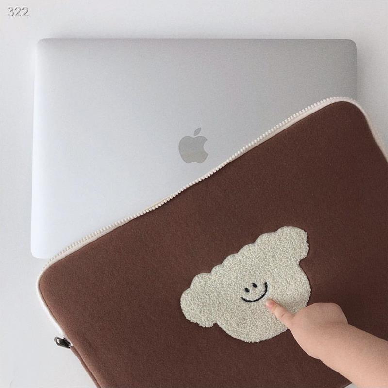 กระเป๋าแล็ปท็อป✣❐✈เกาหลี ins13 นิ้ว หมีน่ารัก liner กระเป๋า 12.9 นิ้ว ipad กระเป๋าเดินทางกันกระแทก Huawei d14 กระเป๋าคอม