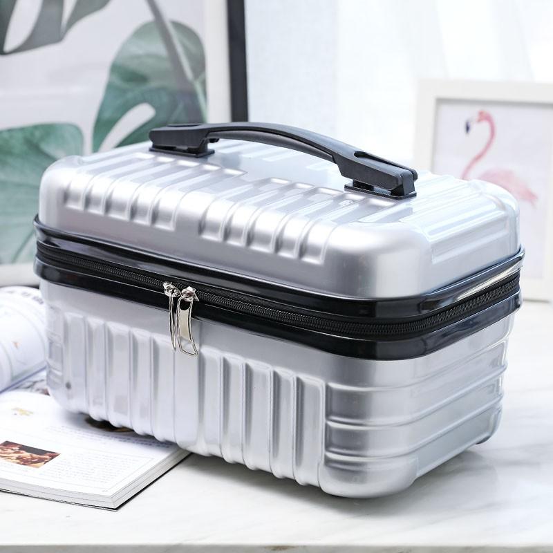 🔥Hot Sale🔥กล่องแต่งหน้าแฟชั่นแบบพกพาขนาด 14 นิ้วกล่องเครื่องมือแต่งหน้าสาวน่ารักน้ำหนักเบา 16 กระเป๋าเดินทางขนาดเล็กกล