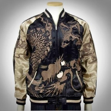 SUKAJAN แบรนด์แท้ญี่ปุ่น  Japanese Souvenir Jacket  แจ็คเกตซูกาจันลาย BIG GRAGON