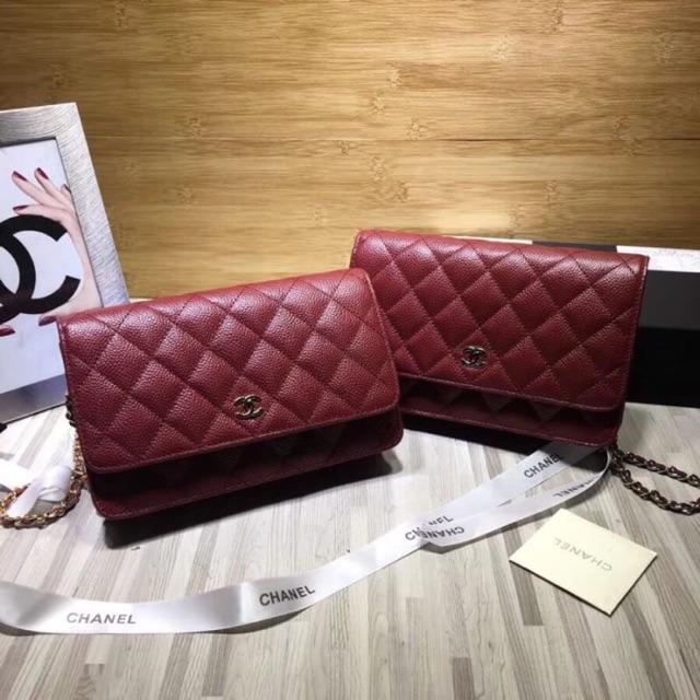 Chanel woc 19cm hi-end 1:1 leather พร้อมส่ง ถูกมากก