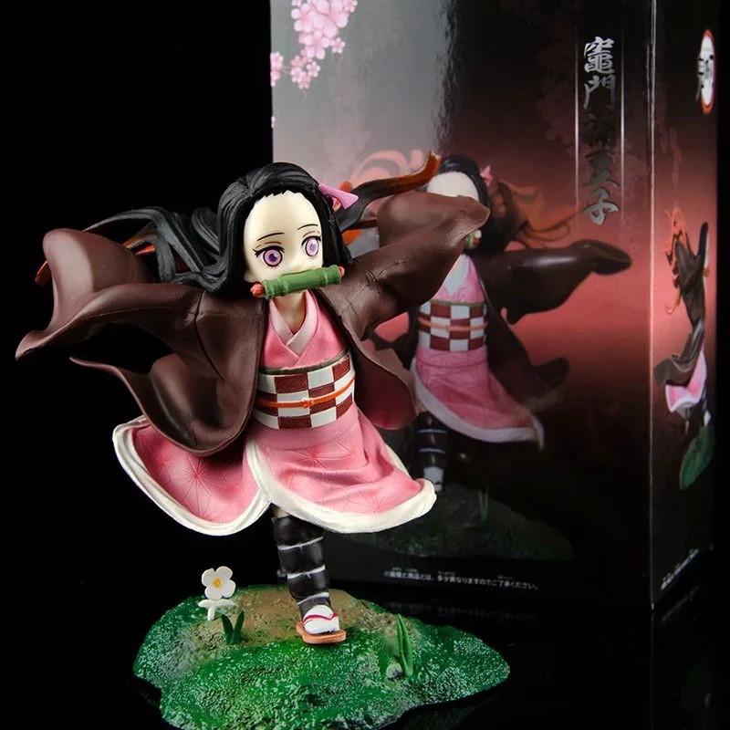 ✾∈◆Demon Slayer Blade Running Nidouzi Sister GK Scene Boxed Figure Decoration Gift Model
