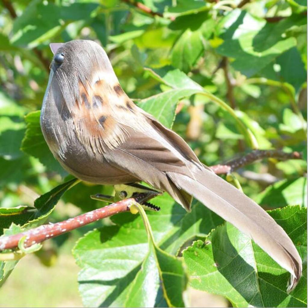 12Pcs Fake Artificial Bird's Sparrow Realistic Imitation Home Garden Decor Yard, Garden & Outdoor Living