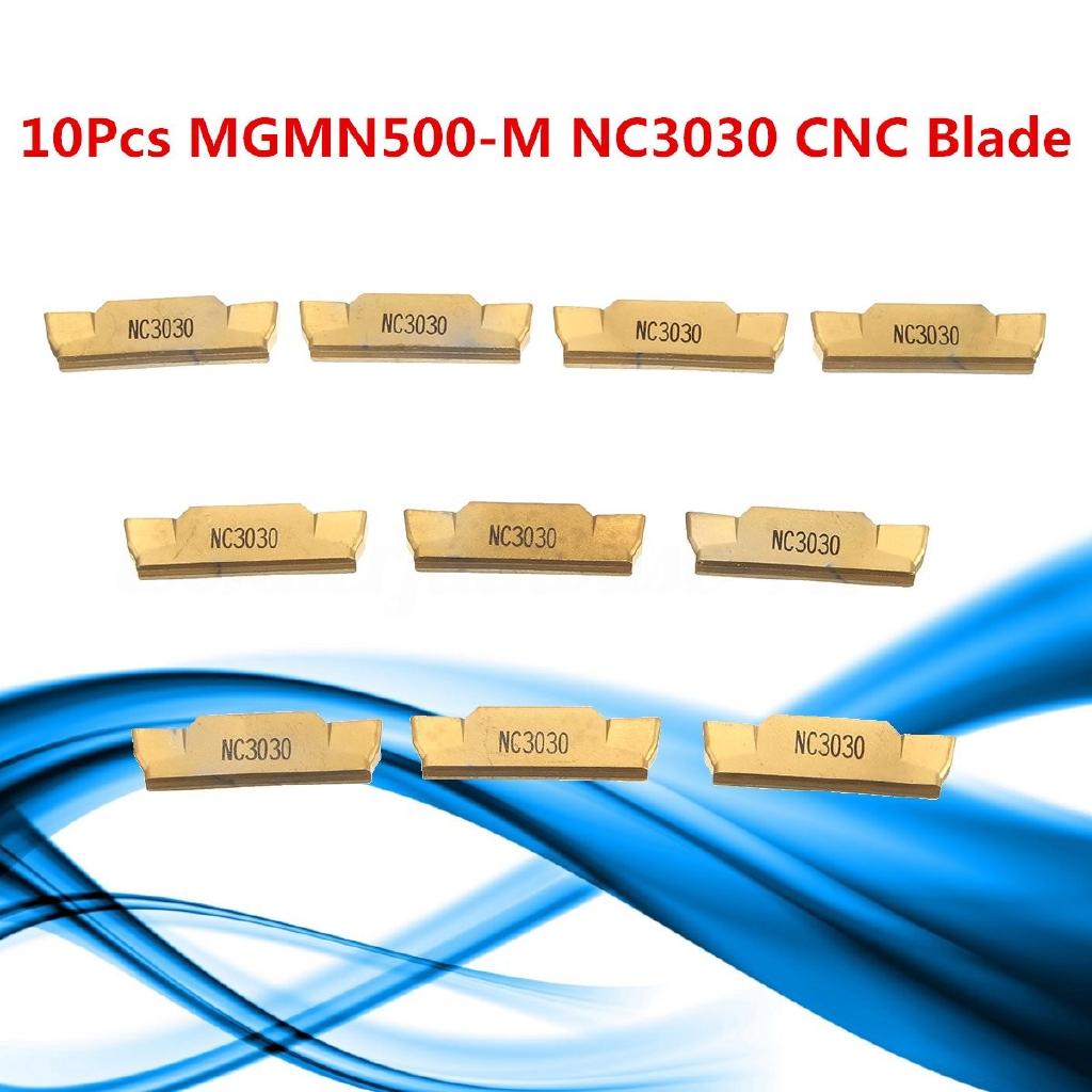 10Pcs MGMN500-M NC3030 Inserts 5.0mm CNC Lathe Cutting Off Turning Boring Tool