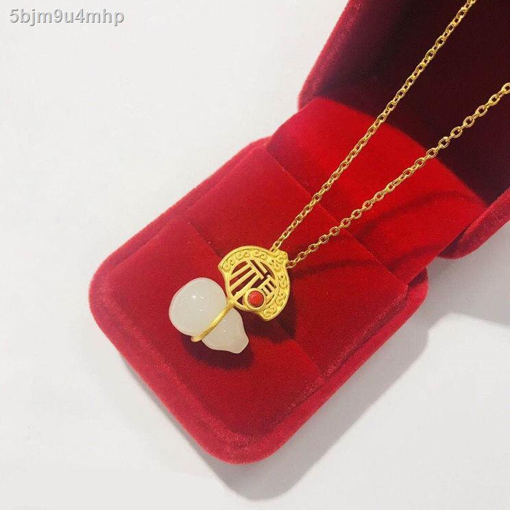ราคาถูก ✐Vietnamese Sand Gold สร้อยคอจี้แฟชั่นผู้หญิงไม่ซีดจางลูกอมป่าสร้อยคอทองคำ สุภาพสตรีทองคำบริสุทธิ์เวอร์ชั่นเกาห