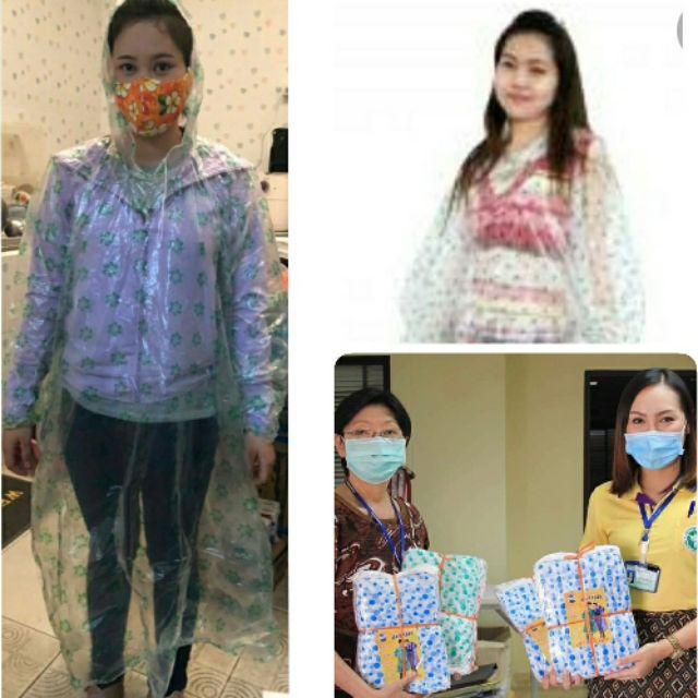 เสื้อกันฝน ใส่แล้วทิ้ง  ใช้ในโรงพยาบาล /แทน ชุด PPE