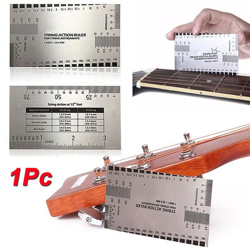 Review String Action Gauge Ruler Guitar Measuring Fork Bass Luthier Tool
