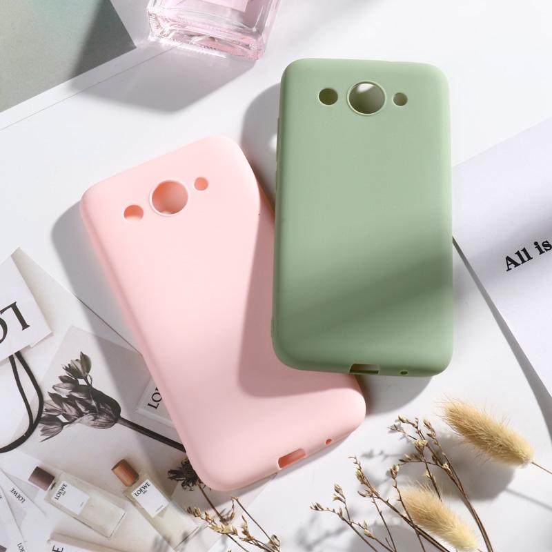 เคสโทรศัพท์มือถือ Tpu สีพื้นสําหรับ Huawei Y 3 2017 Y 3 2018 Y5 Lite 2017 Cro - L 22 Cro - L 02 5 . 0 นิ้ว