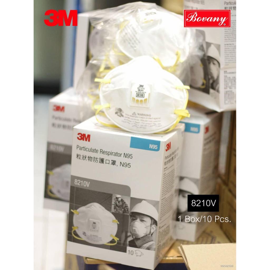 ✥3M 8210V N95 หน้ากากกันฝุ่นละออง PM2.5 (10ชิ้น/กล่อง)