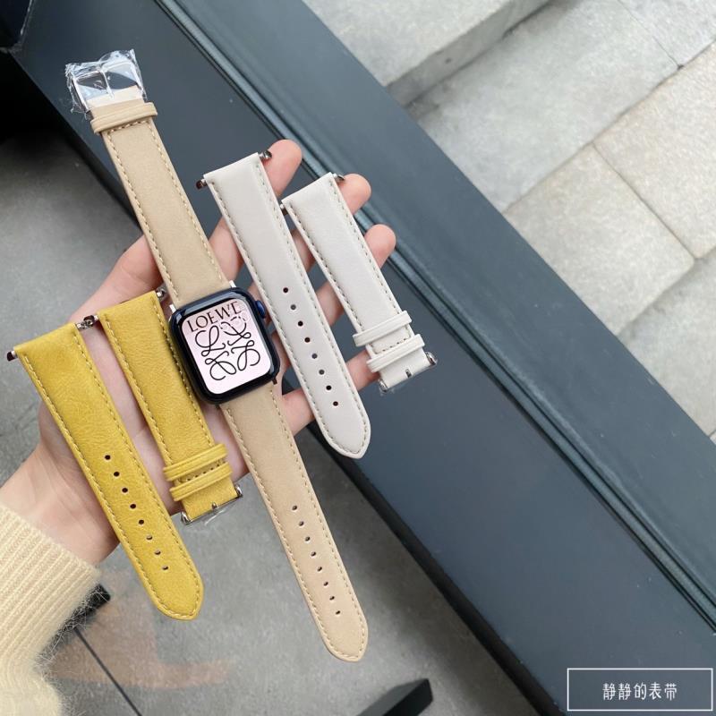 สายนาฬิกาข้อมือหนังแฮนด์เมดสําหรับ Applewatch 1~6 Generation Se