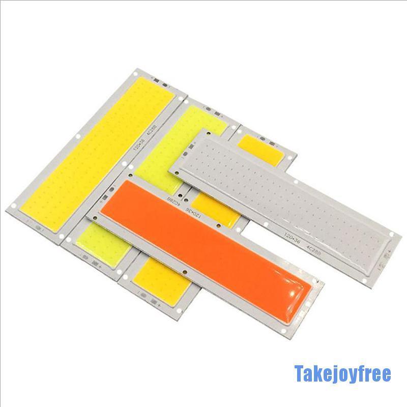 ( Takejoyfree 0324 ) 12V 10 W 100 Lm / W แผงไฟ Led ขนาดใหญ่ 120X36 มม .