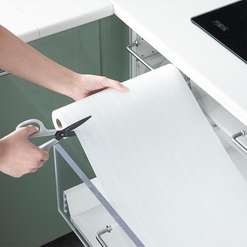 สติ๊กเกอร์กันน้ำ ญี่ปุ่นนำเข้าลิ้นชักบ้านแผ่นแผ่นความชื้นตู้เสื้อผ้ากระดาษตู้ครัวตู้รองเท้ากันน้ำฝุ่นสติกเกอร์ DGmh