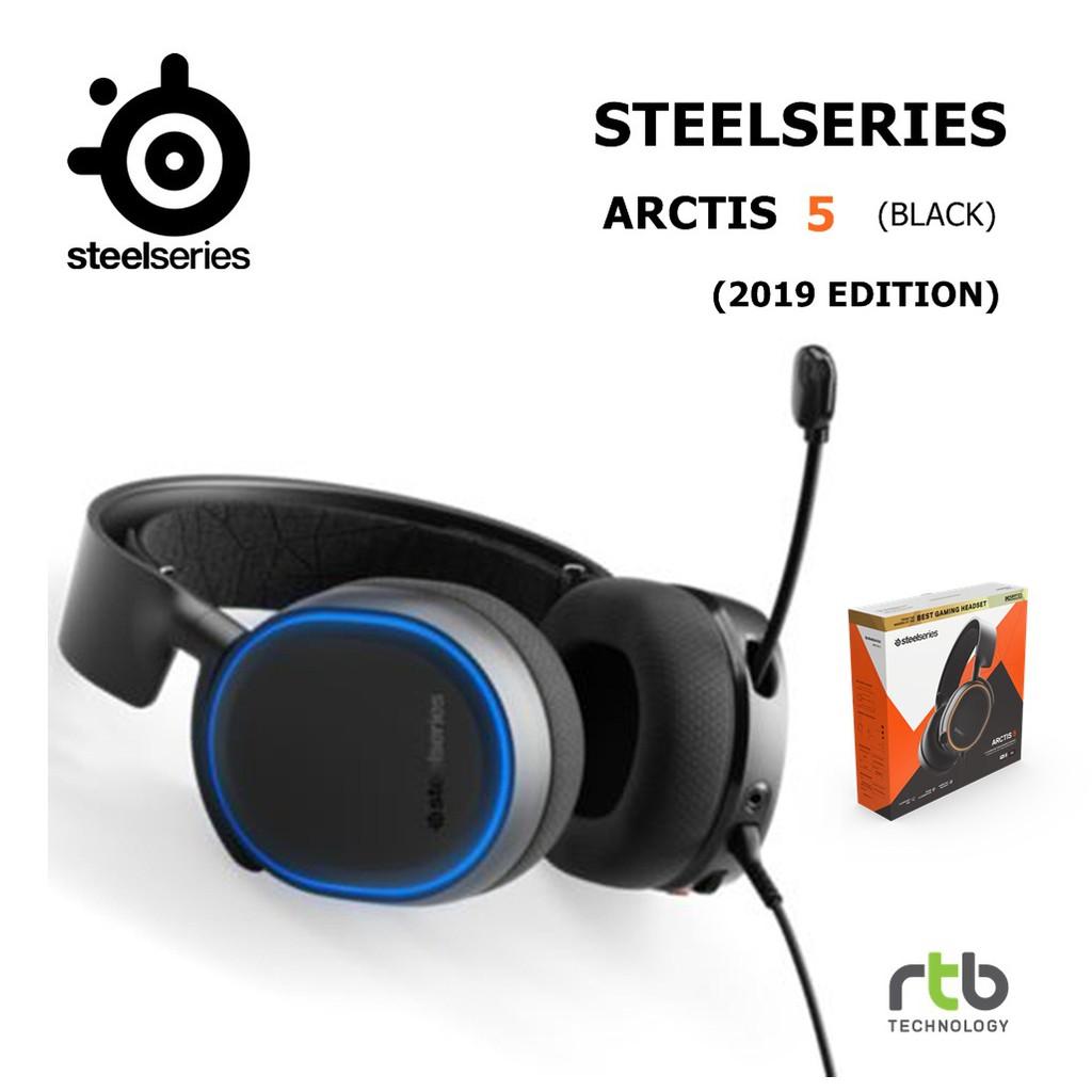 SteelSeries หูฟังเกมมิ่ง 7.1 DTS ARCTIS 5 RGB Gaming Headset (2019 Edition) - Black