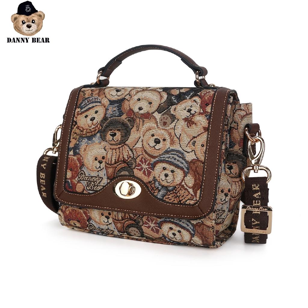 Danny Bear กระเป๋าเล็กหญิงแนะนำแฟชั่นใหม่เวอร์ชั่นเกาหลีของ Messenger ที่เรียบง่ายและอเนกประสงค์กระเป๋าผ้าใบกระเป๋าผู้หญ