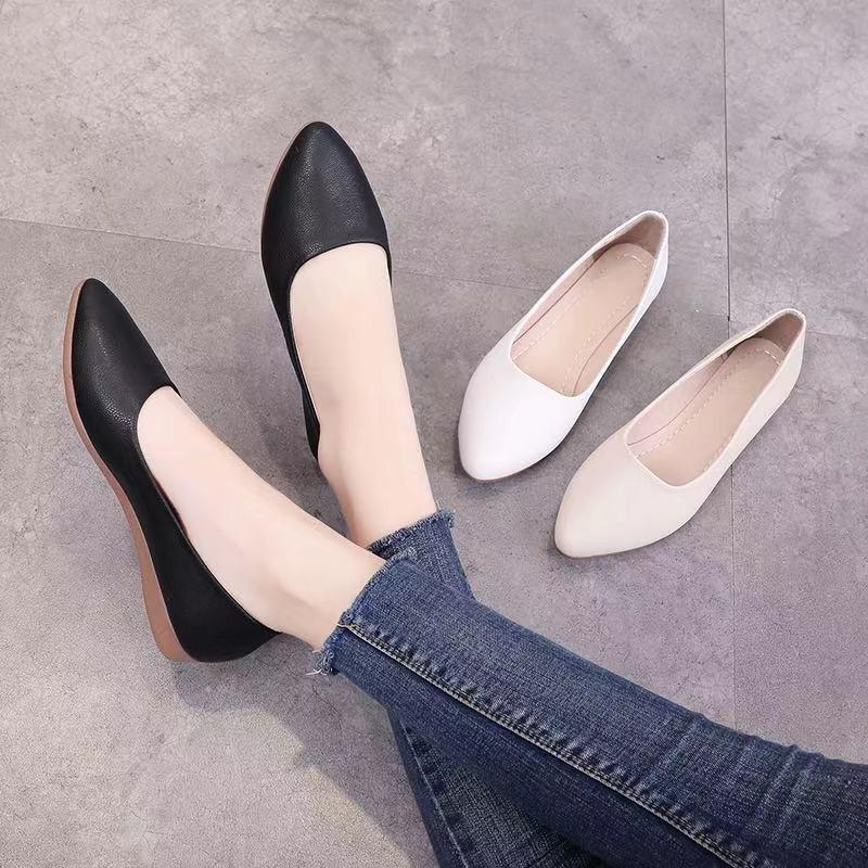 🌞รองเท้าคัชชู รองเท้า แฟชั่น เปิดส้น รองเท้าส้นแบนหัวแหลม รองเท้าคัชชู ส้นเตี้ย รองเท้าโลฟเฟอร์ รองเท้าผู้หญิงแฟชั่น🌞