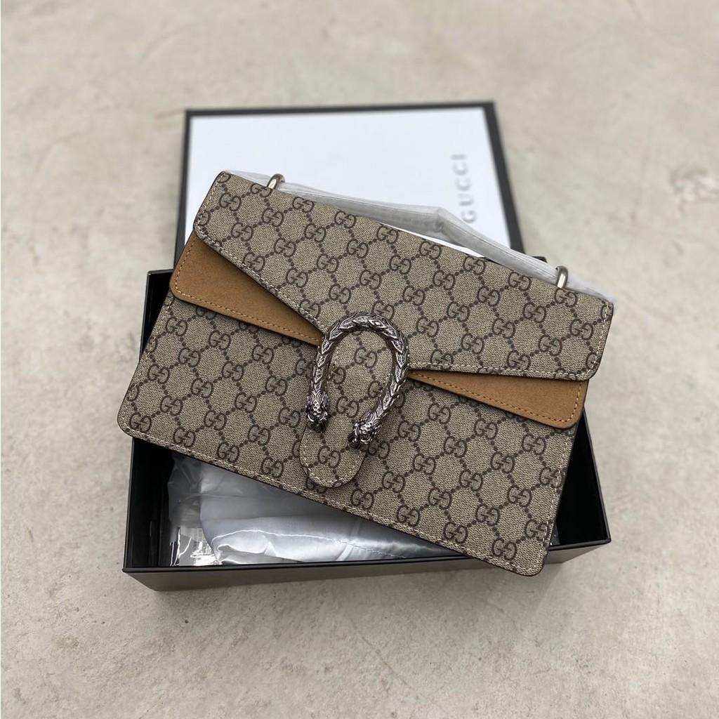 Gucci GUCCI bag calfskin full upgrade quality classic Dionysus Dionysus bag upreme สินค้าใหม่ในสต็อก