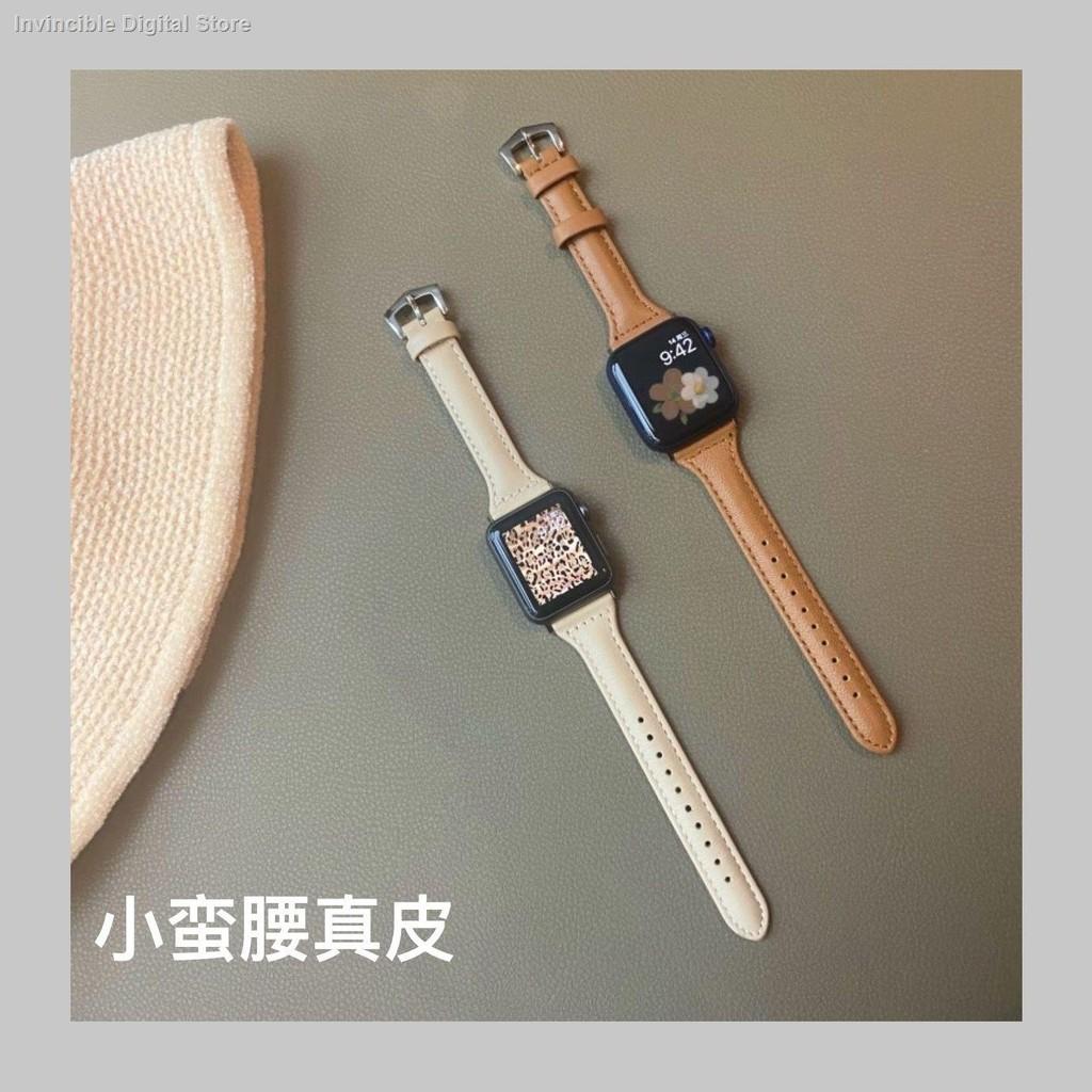 【อุปกรณ์เสริมของ applewatch】﹍ใช้ได้กับ Applewatch หนังเอวเล็กสาย apple สาย iwatch หนังแท้ SE6 / 5/4/3/2