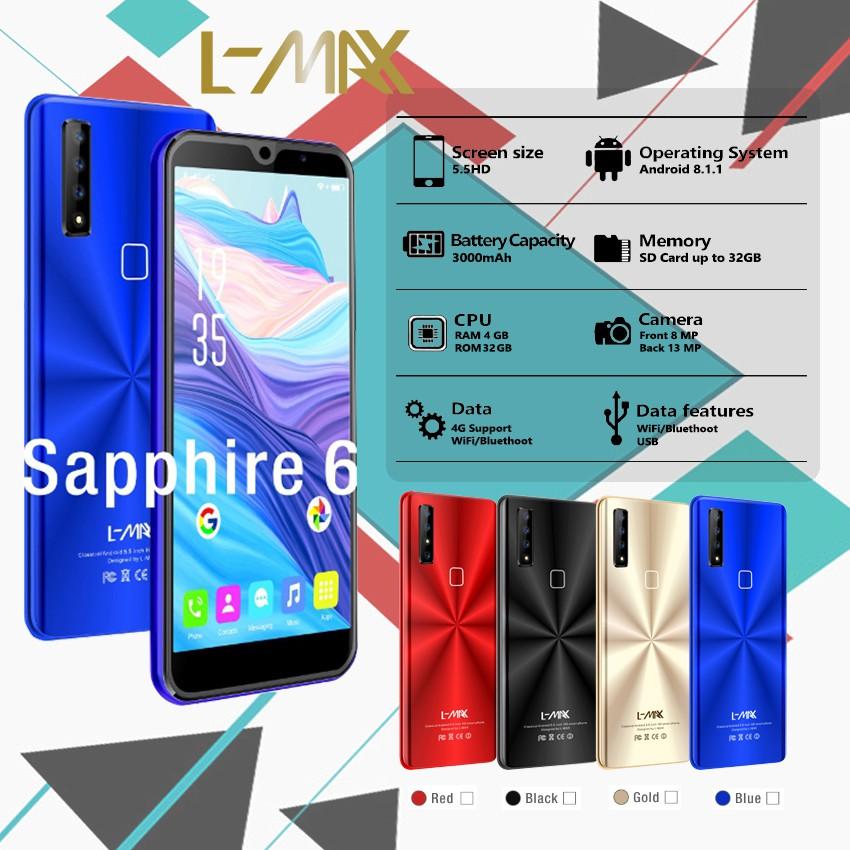 โทรศัพท์ L-MAXรุ่น sapphire6 champ มือถือ เเอลเเม็กซ์ เครื่องเเท้รับประกันศูนย์1ปี