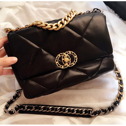 (Preorder) Chanel 19 Style Maxi Flap Bag Sheepskin Real Leather 💯