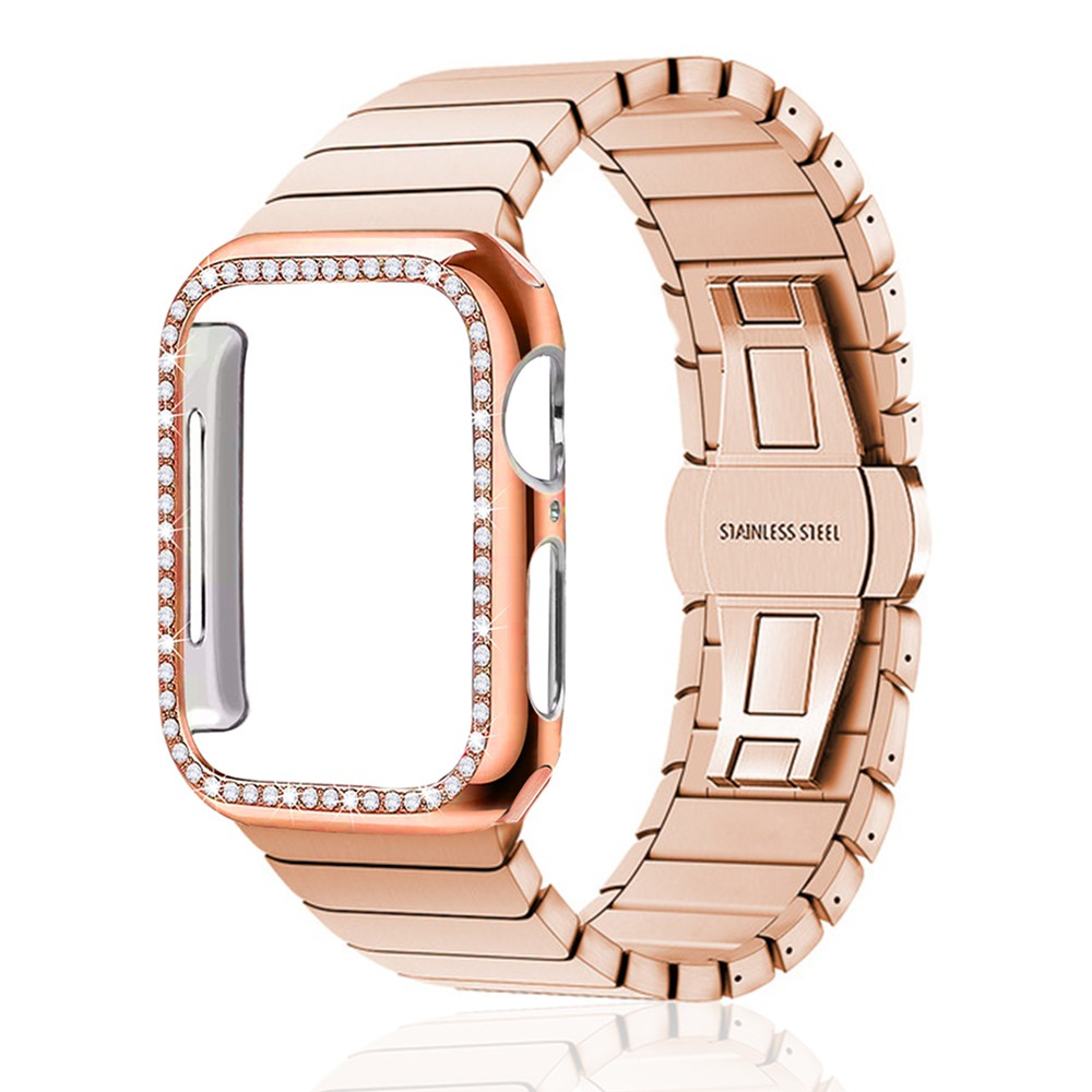 Strap + Case Stainless Steel strap for Apple Watch band 44 mm 40mm iWatch band 42mm/38mm Butterfly buckle Metal Bracelet Apple watch 5 4 3 21