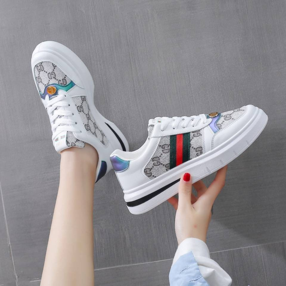 ร้องเท้า รองเท้าคัชชู รองเท้าผู้หญิง ♩รองเท้าสีขาวเล็ก ๆ , เด็ก, เวอร์ชั่นเกาหลีของร้อย, 2021 ฤดูใบไม้ผลิ, รองเท้าด้านล่