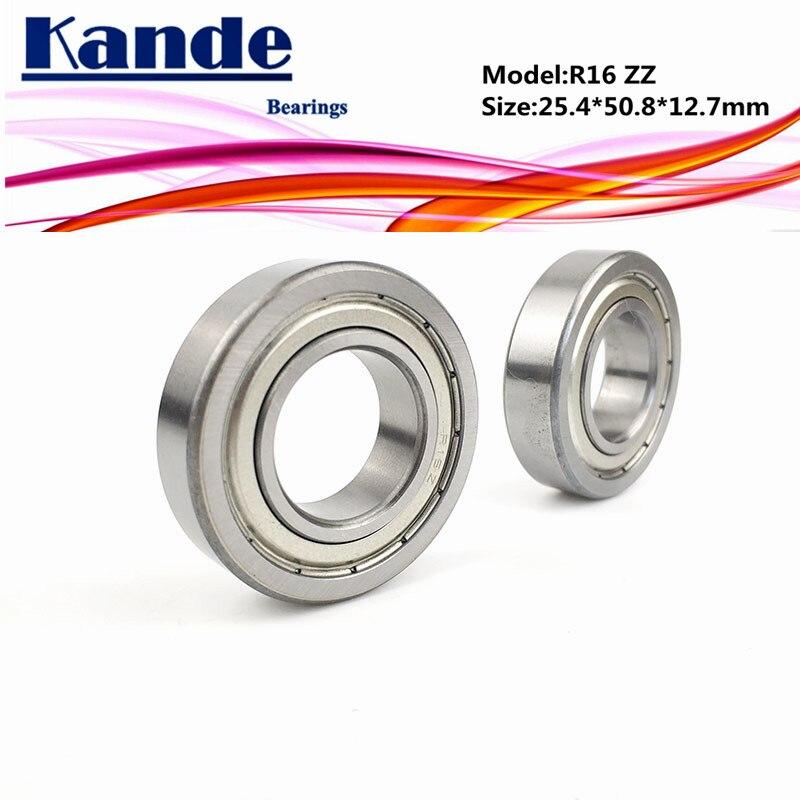 Kande แบริ่ง R 16 R 16 Zz 2 ชิ้น Abec - 1 R 16 Zz นิ้ว 25 . 4x50 . 8x12 . 7 มม .
