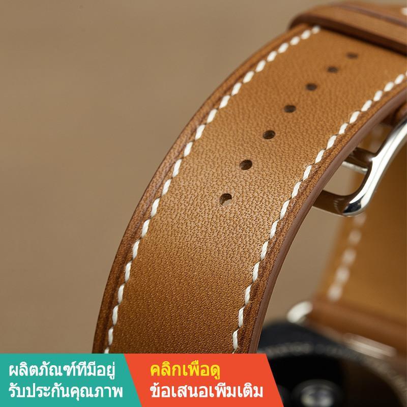 【ลดกระหน่ำ】สาย Apple❇ﺴ☏iwatch สายหนังทำด้วยมือสายนาฬิกา Applewatch สำหรับ Apple Series6 / 54/321