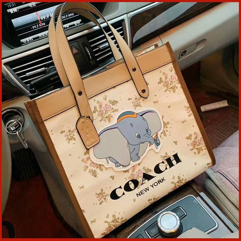 ( Shoumu ) Coach Disney Dumbo Co - Branded กระเป๋าถือผ้าแคนวาสคุณภาพสูง