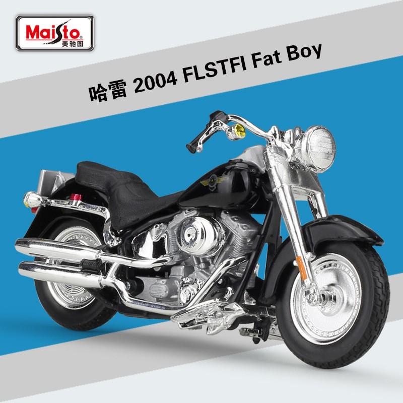 โมเดลรถจักรยานยนต์จําลองสําหรับ Harley Figure 1 : 18 2004 Fstfi Fat Boy