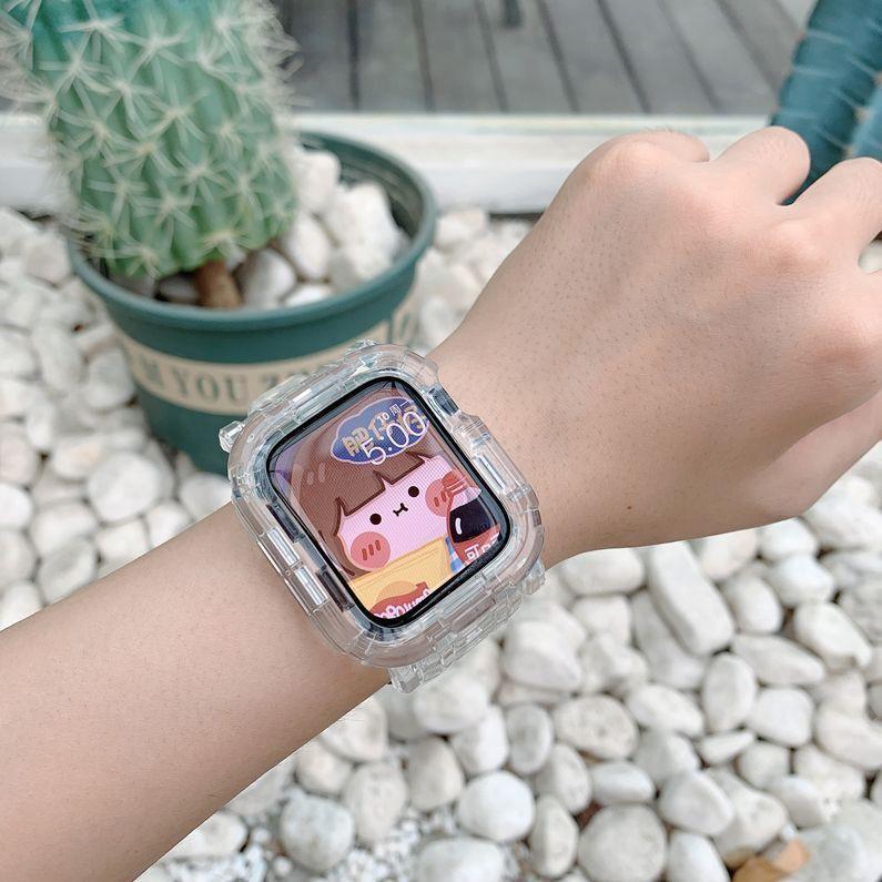 สายคล้องนาฬิกาข้อมือแบบใสสําหรับ Applewatch 654321se Hw22