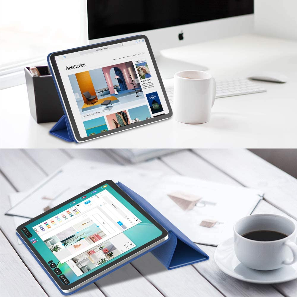 MoKo Magnetic Smart Folio Case Fit iPad Pro 11 2020 2nd Generation [Support Apple Pencil 2 Charging] Slim Lightweight Sh