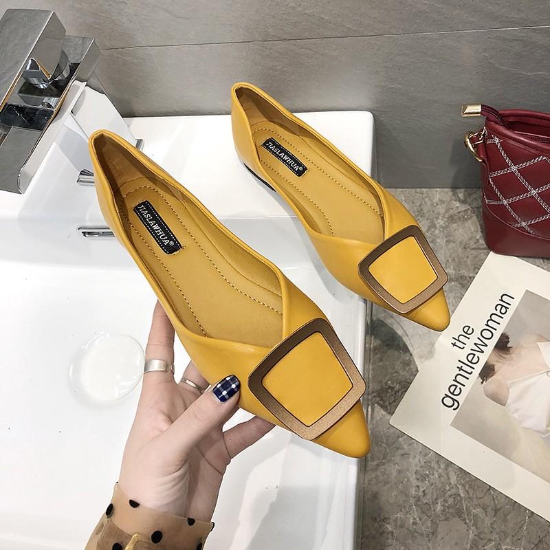 รองเท้าคัชชูผู้หญิง รองเท้าคัชชูหัวแหลม 💘รองเท้าส้นแบน รองเท้าแฟชั่น ดูหรู ใส่สบาย สีสวย ใส่ไปทำงานได้