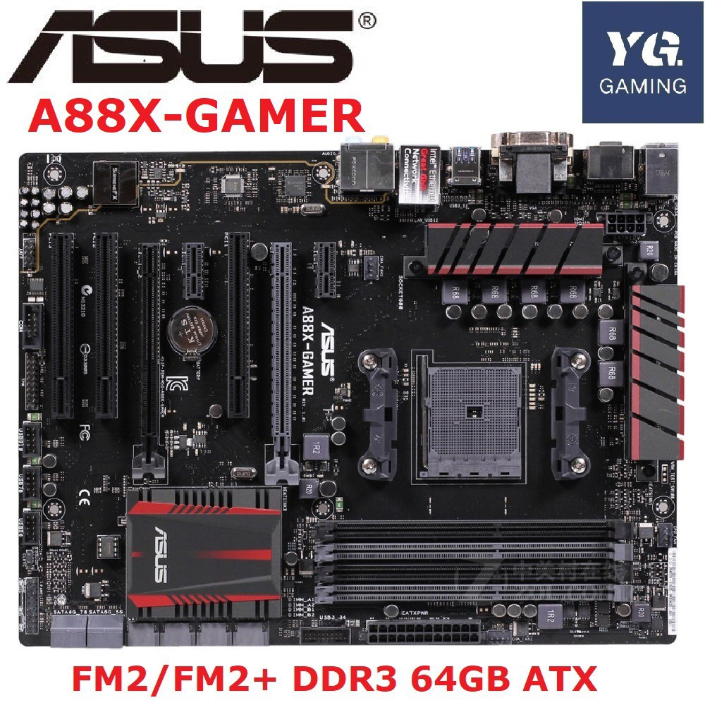 ASUS A88X-GAMER  Desktop Motherboard AMD A88X Socket FM2/FM2+ DDR3 64GB Desktop used motherboard
