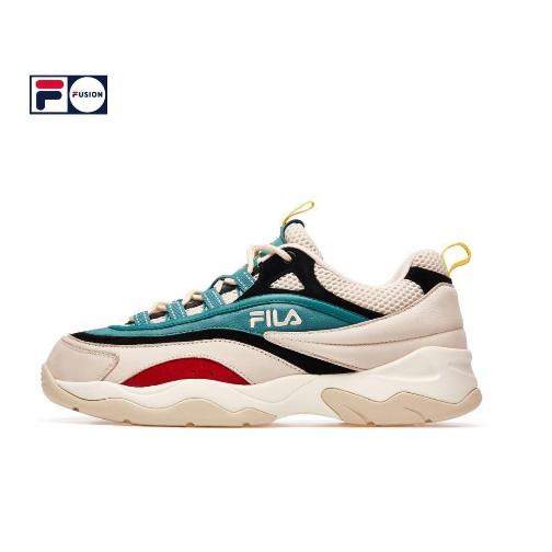 FILA Fila FUSION RAY รองเท้าเก่า 2019 รองเท้าลำลองใหม่รองเท้าวิ่งย้อนยุค