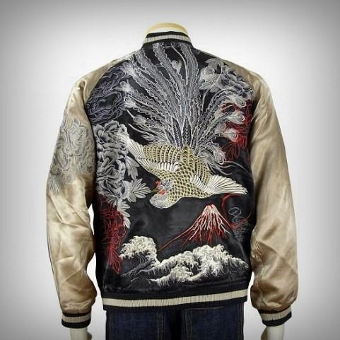 SUKAJAN แบรนด์แท้ญี่ปุ่น Japanese Souvenir Jacket แจ็คเกตซูกาจันลาย Phoenix Flying