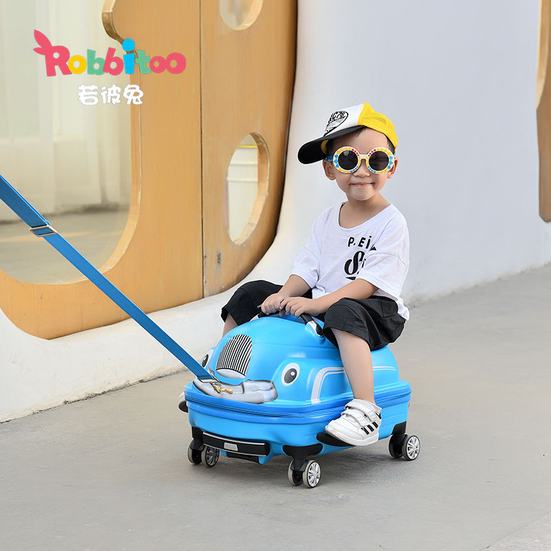 ‐ム กระเป๋าเดินทางล้อลาก กระเป๋าเดินทางล้อลากใบเล็กกรณีรถเข็นเด็กสามารถนั่งรถเข็นกรณีบิดชายและหญิงลากกล่องเด็กทารกรถน่ารั