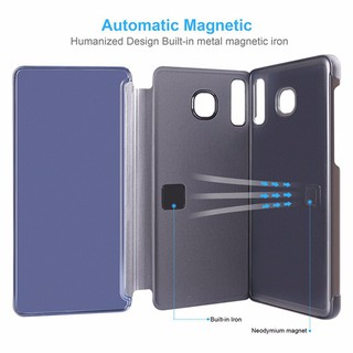 Image # 4 of Review Asus Zenfone Max Pro M2 ZB631KL เคสฝาพับ Hard Cover Smart Flip Stand Mirror Case เคสแข็ง